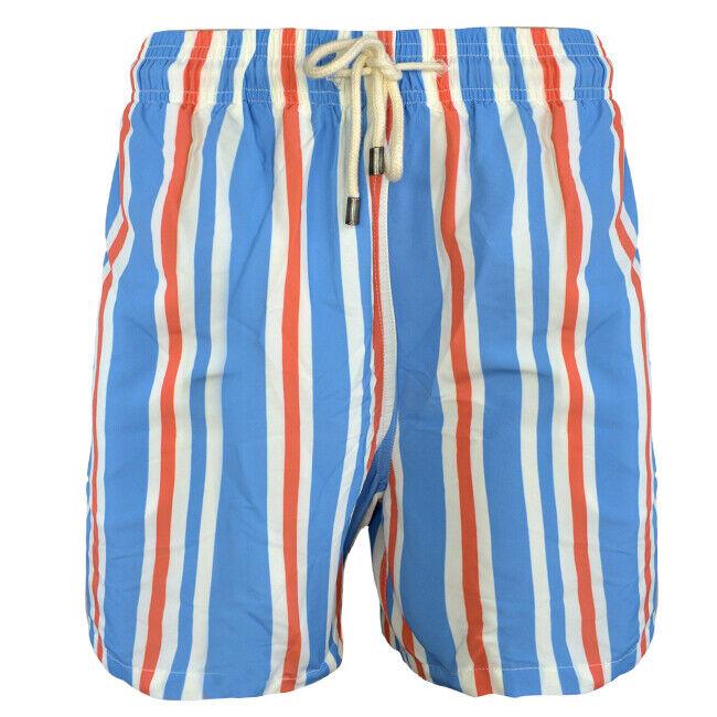 Solid & Striped Men's The Classic Swim Trunks, bluee Cream orange