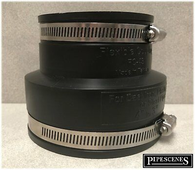 """82mm Soil Drain Pipe Black 4/"""" to 3/""""  Reducer 110mm"""