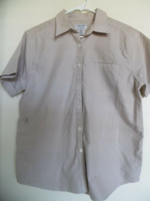 WOMEN'S CABIN CREEK WRINKLE  FREE STAIN REPELLENT  BROWN  TOP SHIRT SIZE  10