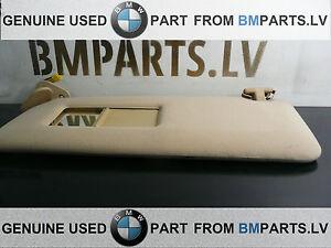 GENUINE-BMW-E39-LIGHTED-MAKE-UP-SUN-VISOR-LEFT-ITS-SANDBEIGE