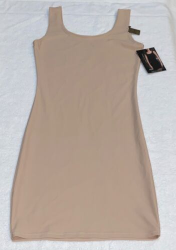 Details about  /MARILYN MONROE Smoothing Naked Nude Tank Full Slip Dress NEW Womens M