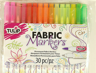 Methodisch Tulip Fabric Markers Dual Tip 30 Pack Permanent Ink