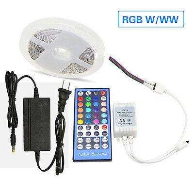 5M 5050 RGBW RGBWW LED Strip Light (RGB+White)Ribbon lamp+IR Remote+12V Power