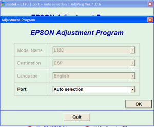 Epson l120 printer ink pad reset software free download
