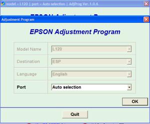 Epson L120 Adjustment Program Reset Epson L120 100/%