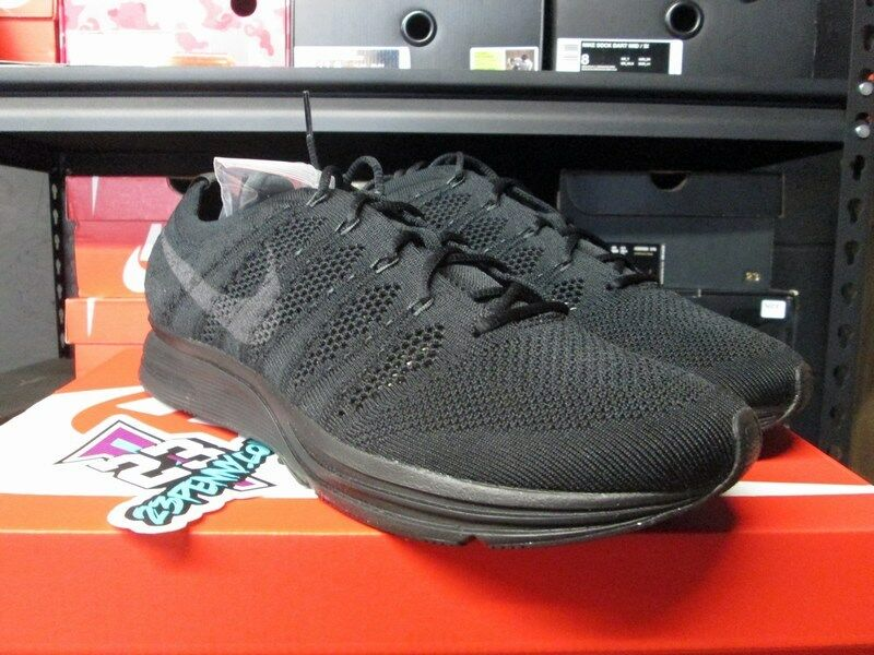 SALE NIKE TRIPLE FLYKNIT TRAINER BLACK ANTHRACITE TRIPLE NIKE AH8396 004 NEW SIZE 8.5-12 b1333b