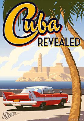 Vintage Retro Travel Poster * CUBA * QUALITY CANVAS PRINT