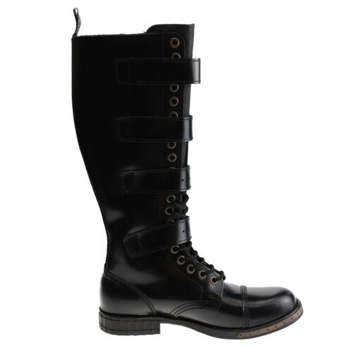 Boots and Braces 20 Loch 4 Schnallen Steampunk Stiefel schwarz bronze ohne Stahl