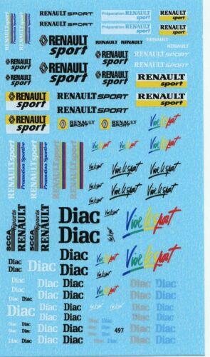 Decalbogen Renault Sport Diac-Vive le sport 1:18-24-32-43 497
