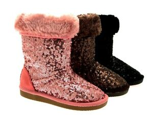 Wholesale Price Kids Fur Lined Faux Sheepskin Bootsj