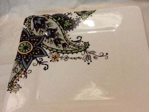 Tabletops Gallery U0026quot;Angelau0026quot; Salad Plate Hand Painted Paisley ...