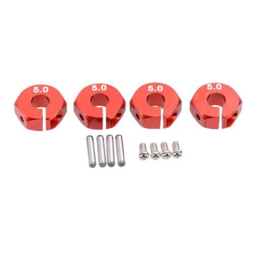 RC HSP HPI rouge en aluminium 5.0 roues Hex Drive avec broches vis 4P pour Tamiya Voiture