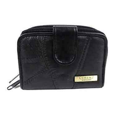 QUALITY REAL SOFT LEATHER LORENZ LADIES WOMENS PURSE CREDIT CARD PHOTO ID WINDOW
