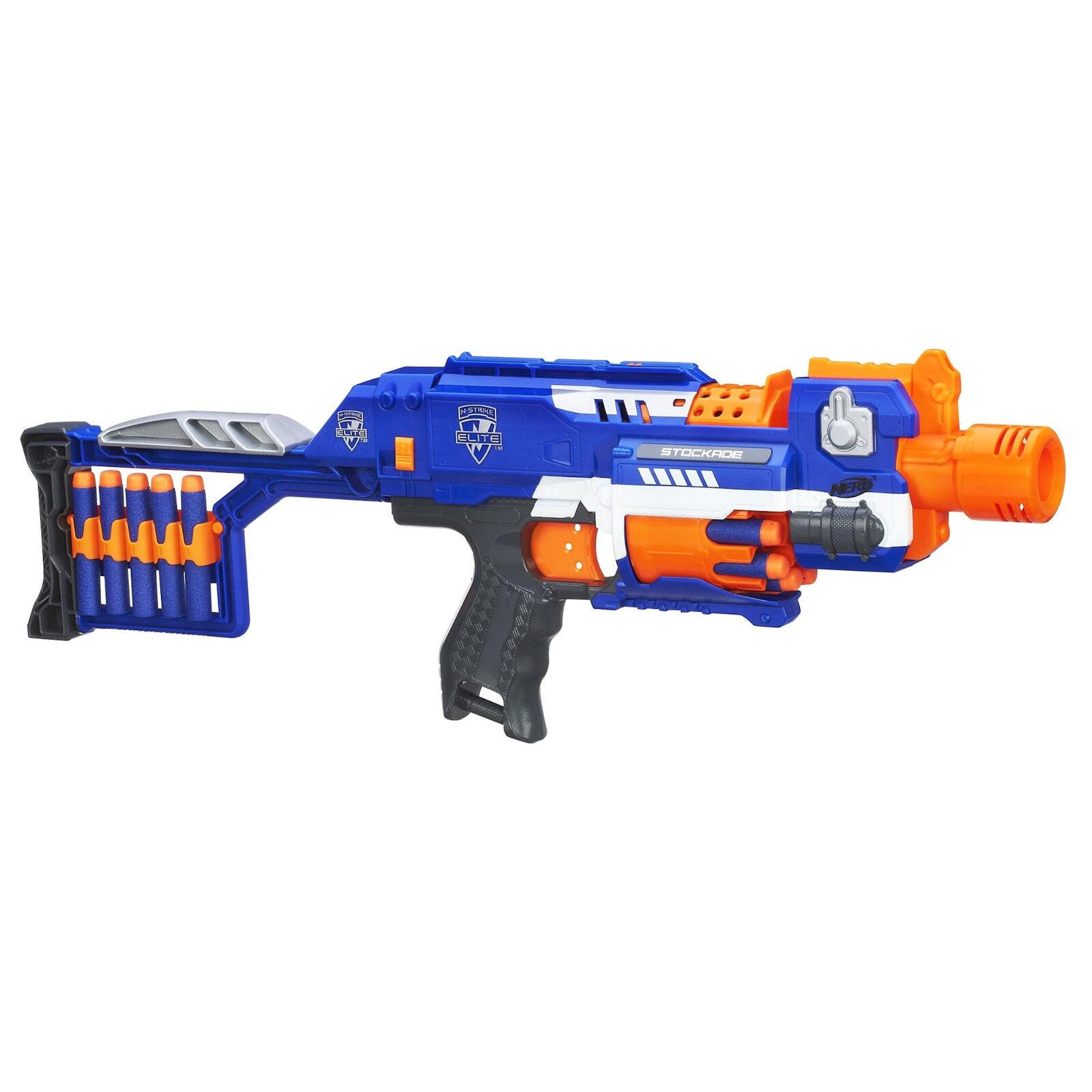 Hasbro Nerf N-Strike Elite XD Stockade Blaster 10 Dardi Arma Spara a 25 mt 98695