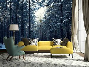 3d Forest Snow 7832 Wallpaper Mural Paper Wall Print Wallpaper