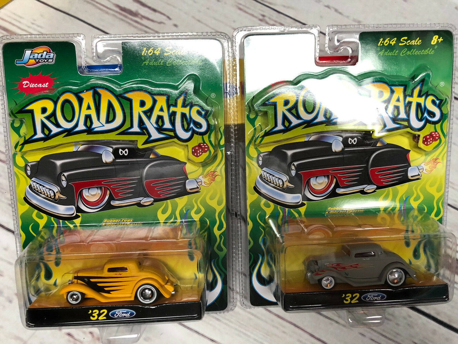 LOT of 2 Jada - DUB City - 1 64 - Road Rats Series 32' FORD, NEW