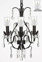 Crystal Chandelier Lighting W/ Candle Votives H18 W14 For Indoor/outdoor Use