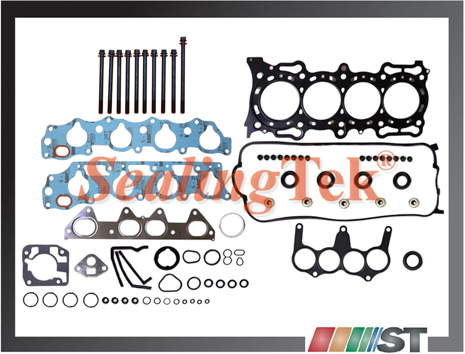 9497 Honda F22B1 VTEC Cylinder Head Gasket Set w Bolts 22L SOHC