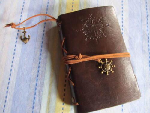 echt COOL Lederbuch Vintage Notizbuch Retro Kladde Tagebuch Reisen