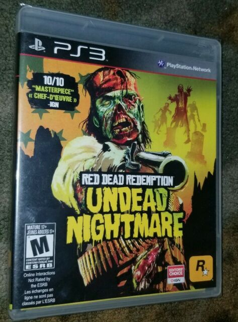 RED DEAD REDEMPTION UNDEAD NIGHTMARE PS3 Game PLAYSTATION 3 GAME New