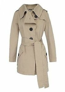 Ladies-Womens-Full-Circle-Cirque-Trench-Coat