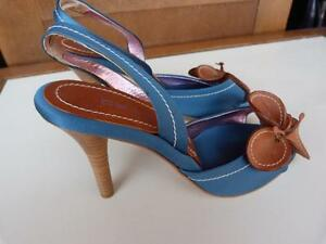 Talonstaille Slingback Etro Nwot WFlower 5 Tealturquoise 56 36 wN80vnm