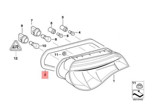 GENUINE BMW E85 E86 Coupé Roadster joint feu arrière gauche OEM 63217167589