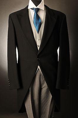 Kompetent Mj-69 Men's Black Two Piece Tails Suit Set For Ascot/wedding/tailcoat 34 36 38