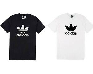 Dettagli su T SHIRT Uomo Donna Trefoil Maglia con logo Adidas Trefoil Maglietta 100% Cotone