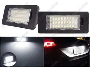 2 pieces LED Licence Number Plate Rear Lamps Assembly for TT Q5 A4 S5 A5 Passat 5D R36 6000K White