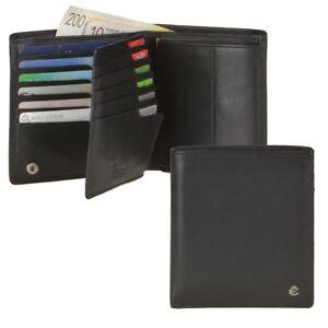 0fa31882d52eb Das Bild wird geladen Esquire-Geldboerse-Herren-Leder -schwarz-mit-RFID-Schutz-