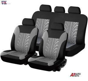 Hyundai-I40-I30-Ix35-Negro-Gris-Tela-ligera-conjunto-completo-de-cubiertas-de-asiento-de-coche