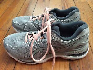 Asics Gel-Nimbus 20 Para Mujer Zapatos Para Correr-Gris/Rosa ...