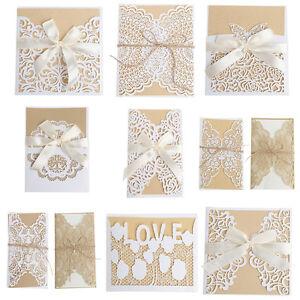 10pcs wedding invitation card kit with envelopes seals personalized image is loading 10pcs wedding invitation card kit with envelopes seals stopboris Images
