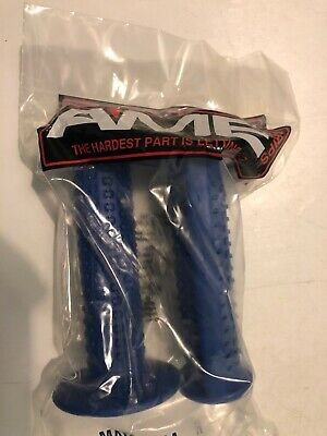 BLUE TRI GRIPS AME OLD SCHOOL  BMX BICYCLE GRIP MADE IN USA AMERICA