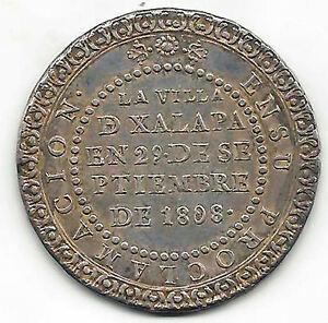 Fernando-VII-4-Reali-1808-Monete-Medaglia-proclamazione-XALAPA-Senza-Circolare