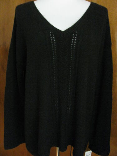 cashmere girocollo donna grandi grande Maglione nero Tesours corre dimensioni in di Nwt da fEaxwqd