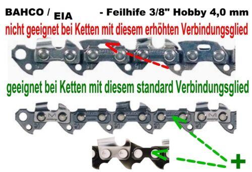"""Feilhilfe EIA BAHCO 3 Feilen 3//8/""""Ho Kettenteilung schärfen Sägekette Kettensäge"""