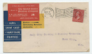 1899-United-States-Printing-Company-color-ad-cover-Chicago-flag-cancel-y4039