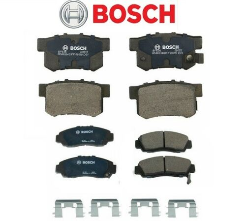 For Acura TL CL RL Set of Front /& Rear Disc Brake Pads Bosch QuietCast