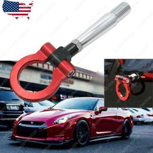 JDM Customized Front Rear Red Track Racing CNC Tow Hook for Nissan GTR 2007+