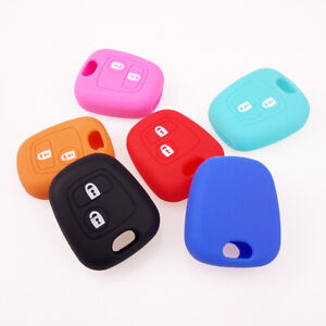 Silicone-Smart-Key-Case-Cover-For-Peugeot-107-307-207-405-C3-Remote-Fob