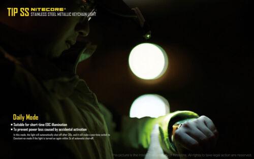 Nitecore Tip SS Keychain Flashlight w//USB Cord /& Clip 360 Lumens Glacier