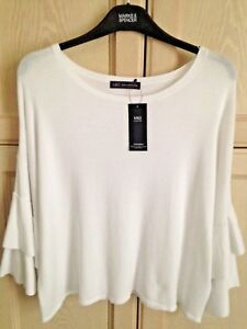 LADIES M/&S CLASSIC SIZES 10 OR 14 IVORY MIX TOP FREE POST