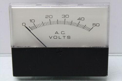1.437  0-50VAC Voltage Panel Meter Hoyt Electric 3126 Series PT