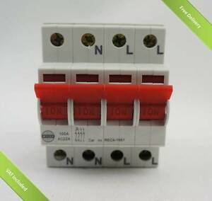 Wylex 4 pole isolator Mains Switch REC4-1661 100A 4 Pole isolator ...