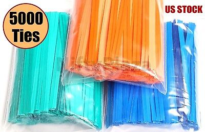 Blue 2000 11 Twist Ties Plastic Coated No Rip Paper Ties Cello General Use