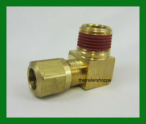 "VelVac Air Brake Fitting DOT Approved 1//2/"" Tube 3//8/"" NPT Male 45° Elbow 2 PC"