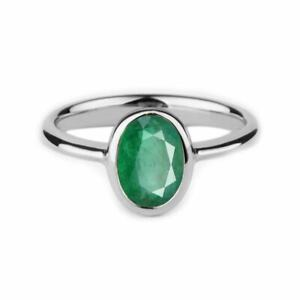 925-Sterling-Silver-Natural-Birthstone-Colombian-Emerald-Ring-Oval-Cut-Ring