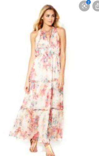 Greylin Catalina Floral Tiered Ruffle Maxi Dress S